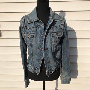 Minimal distressed jean jacket
